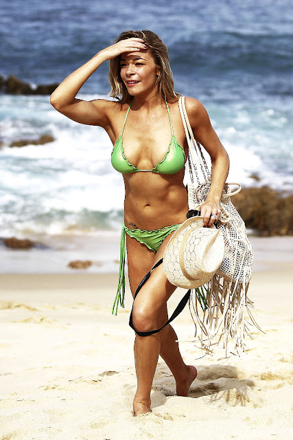 LeAnn Rimes Tiny Thong Bikini Candids