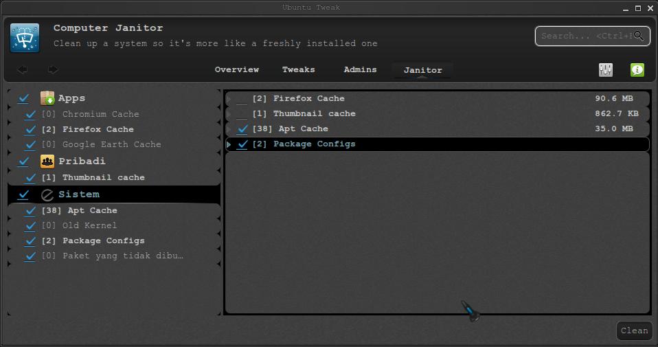 Install Ubuntu Tweak