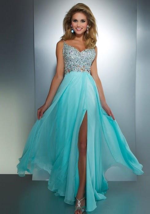 Light Blue Evening Dress UK