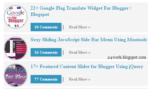 Flexible Recent Posts Widget With Thumbnail
