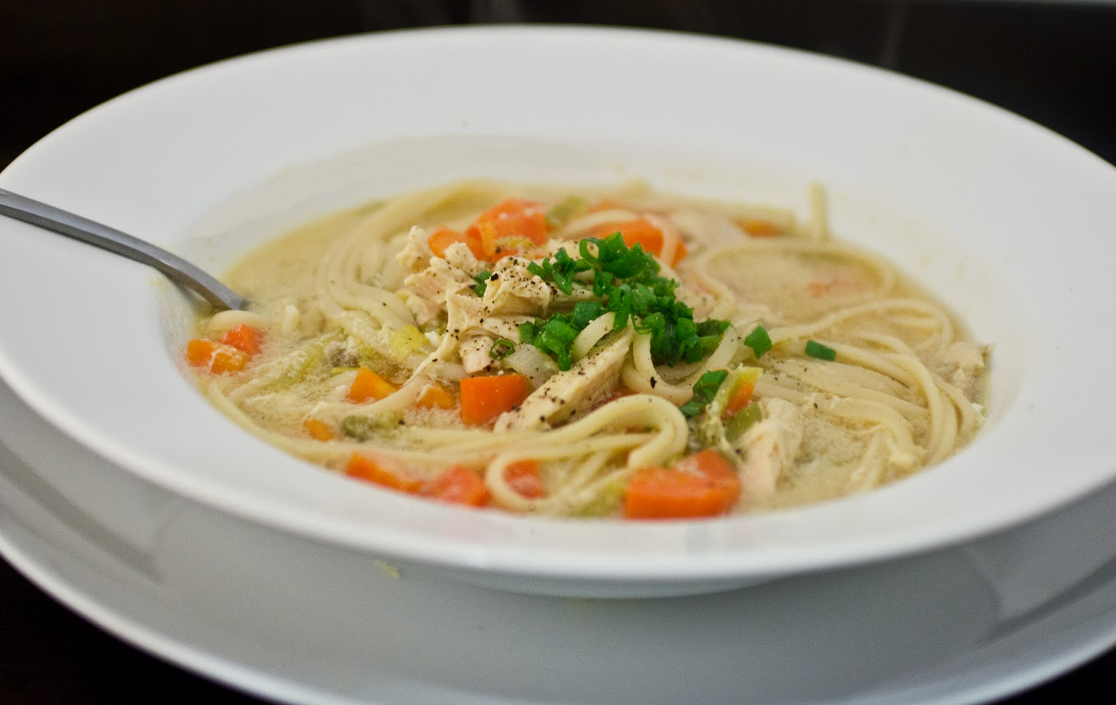 Navy Blue Kitchen: Chicken Noodle Soup with Egg