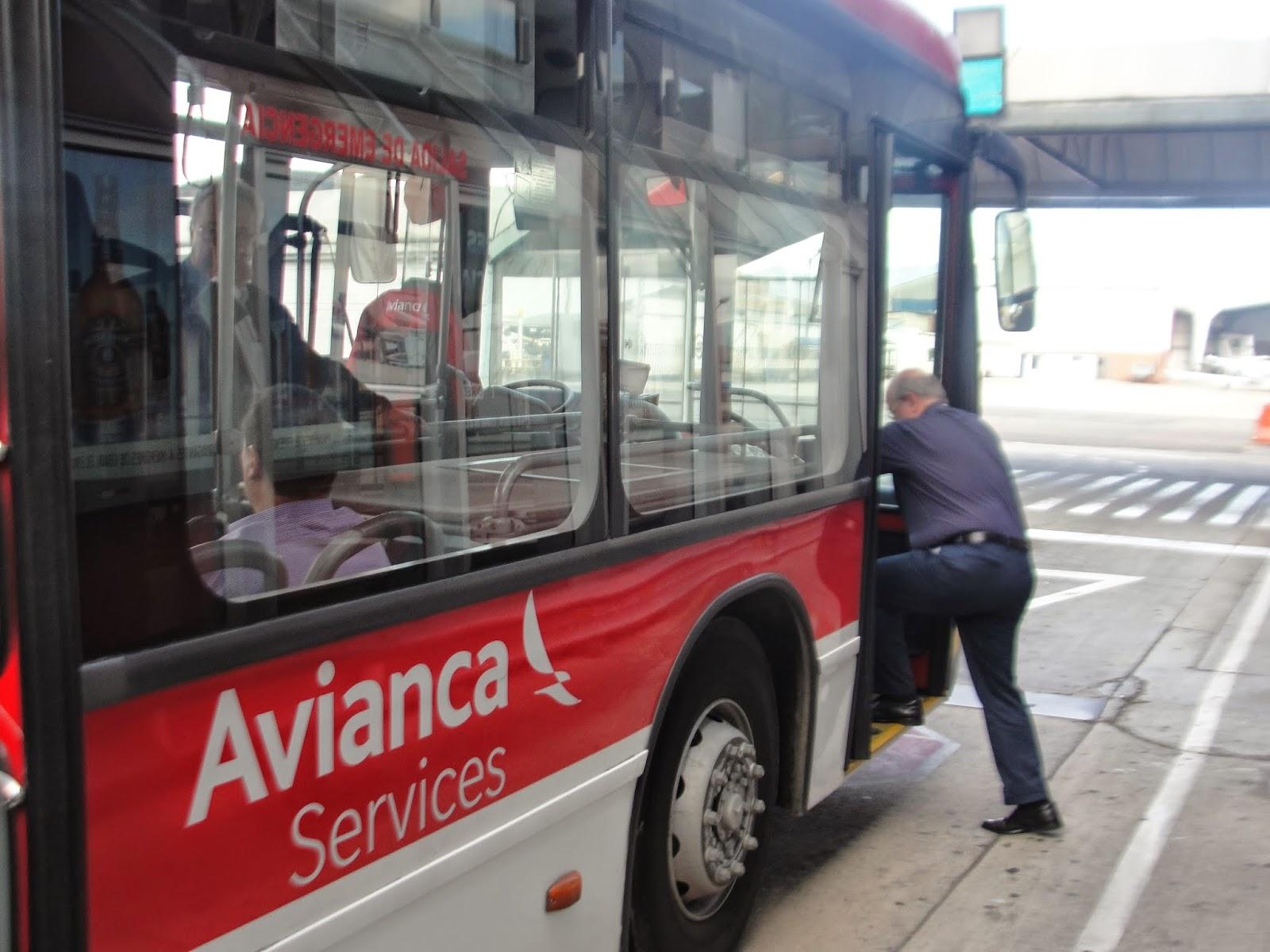 avianca onibus transfer bogota