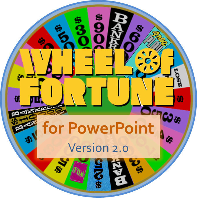 tim's slideshow games: wheel of fortune for powerpoint version 2.0, Powerpoint templates
