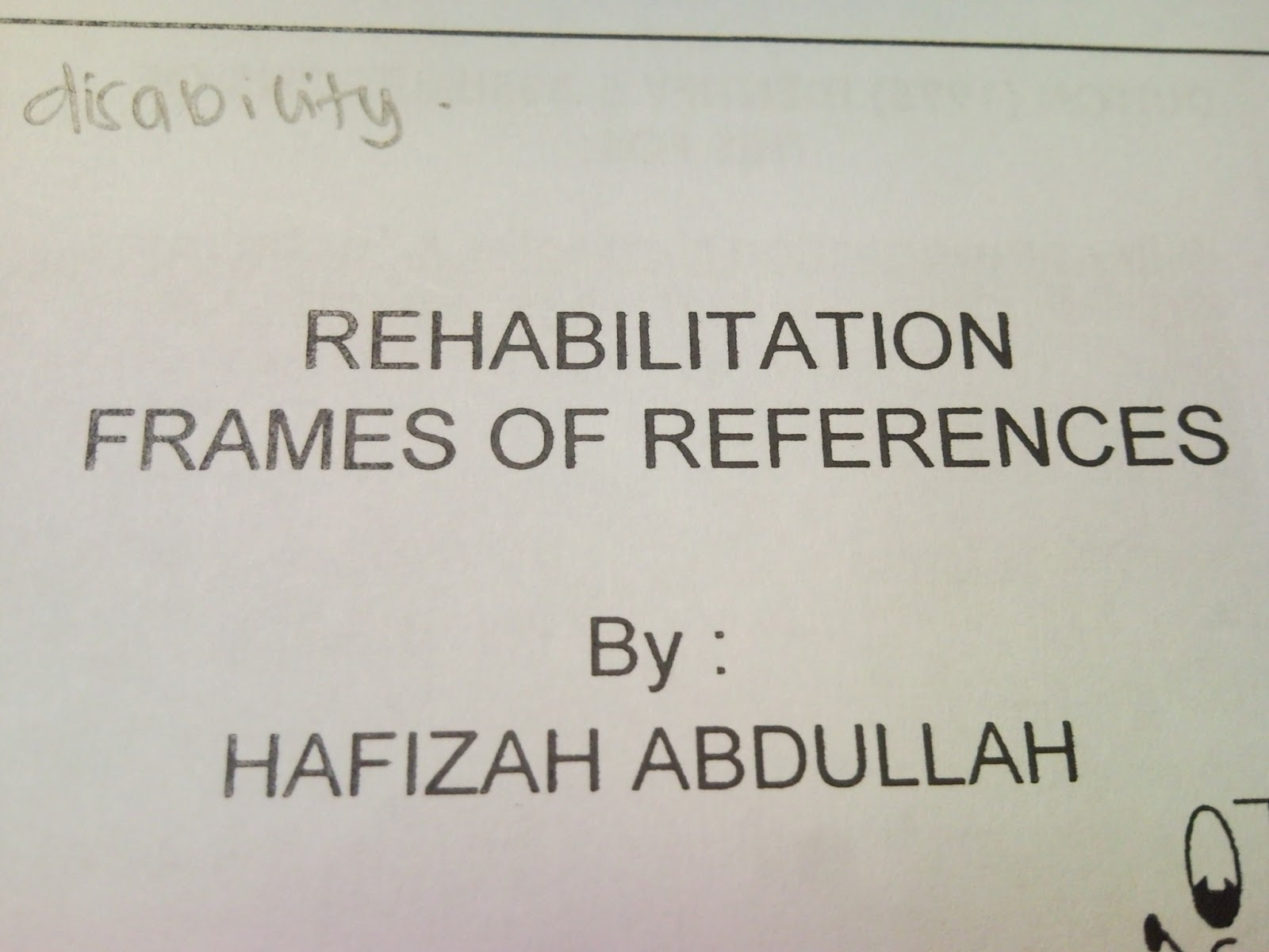 rehabilitative frame of reference pdf