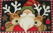 Tapeçaria com renas de decoração