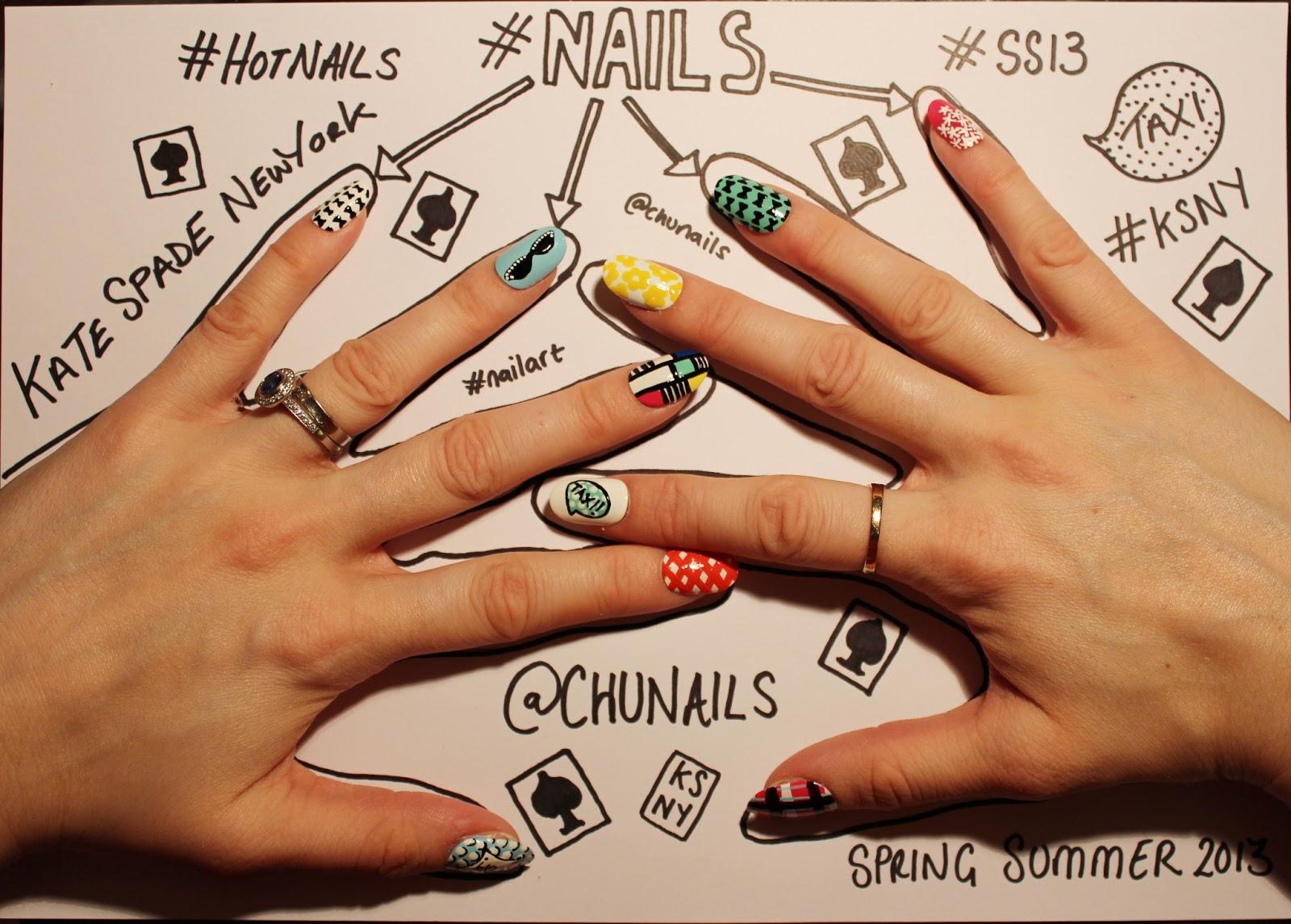 Chunails Kate Spade New York Nails