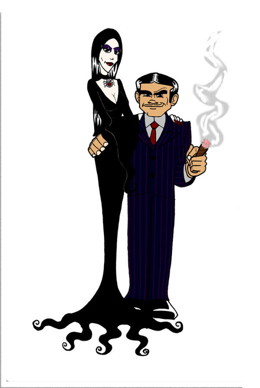 Addams Family 01 por Gonzocartooncompany