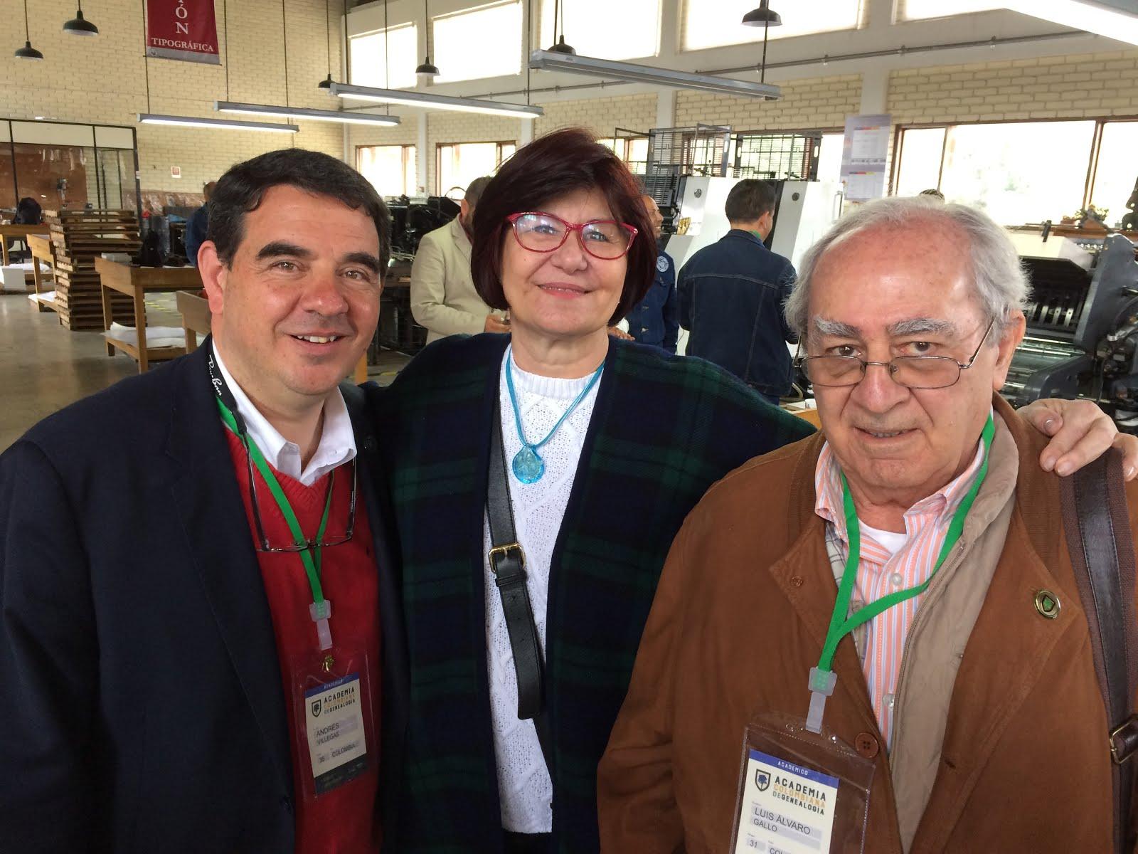 Alvaro Gallo, Rocio Sanchez y Andres Villegas