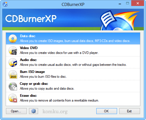 CDBurnerXP DVD and Blu-ray Burner Software