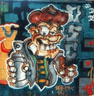Graffiti Solar Azul Barcelona