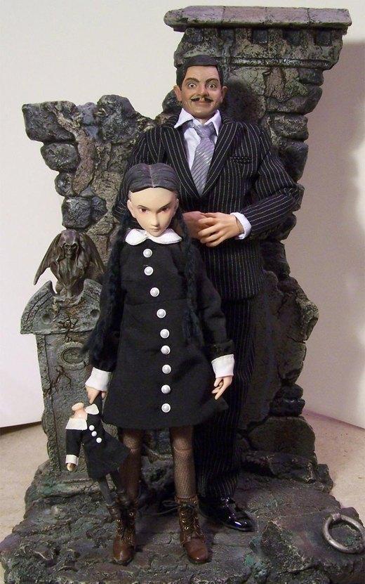 Wednesday and Gomez Addams por cbgorby