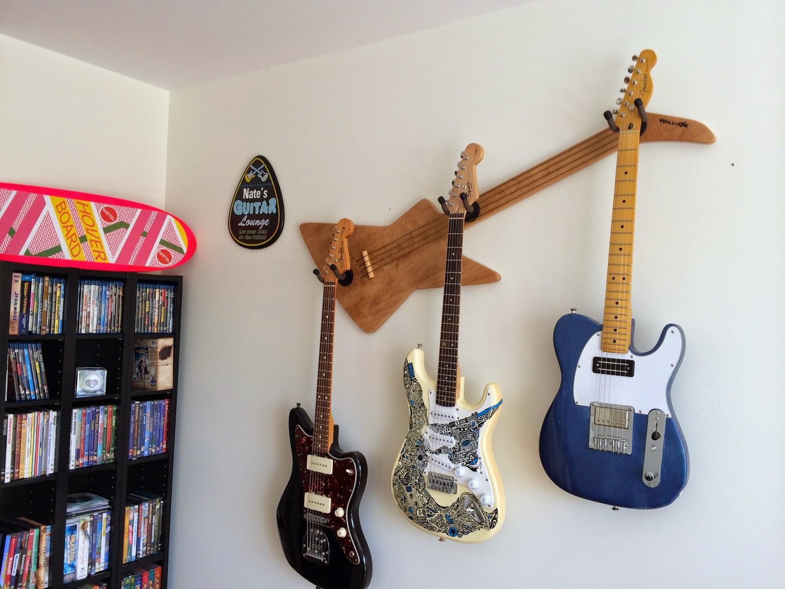WallAxe Custom Guitar Hangers - Decorative wall hangers