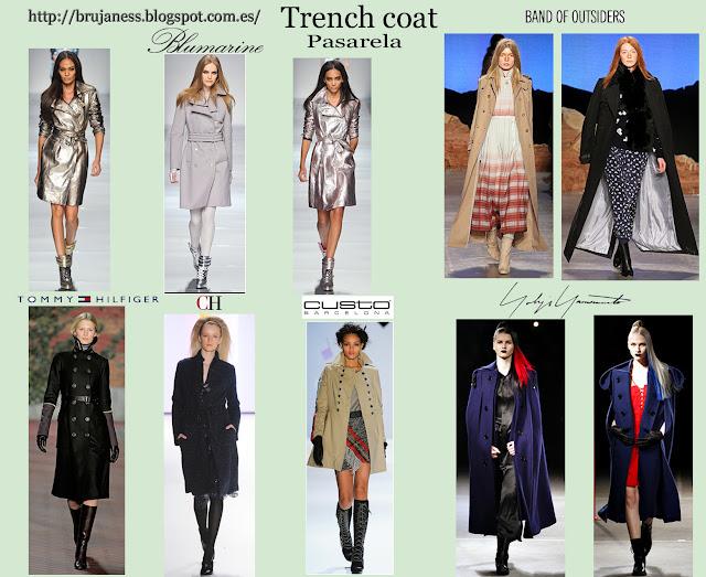 Trench coat o gabardinas vistas en distintos desfiles Pret a porter de la temporada otoño-invierno 2012-2013