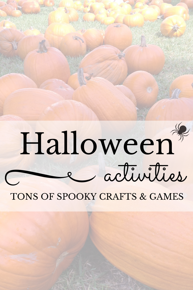 Halloween Activities for Kids featuring Spooky crafts and Games from The Educators' Spin On It