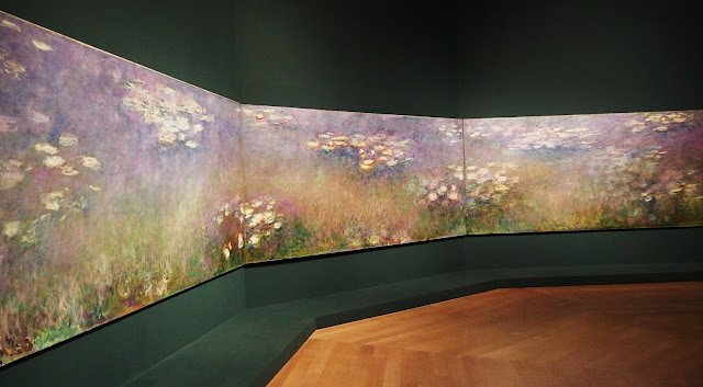 Monet's lilies triptych reunited at the wonderful exhibition at the Royal Academy