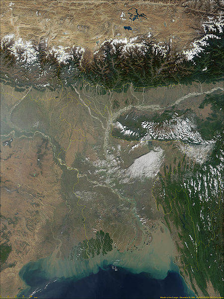 Ganges satelite view