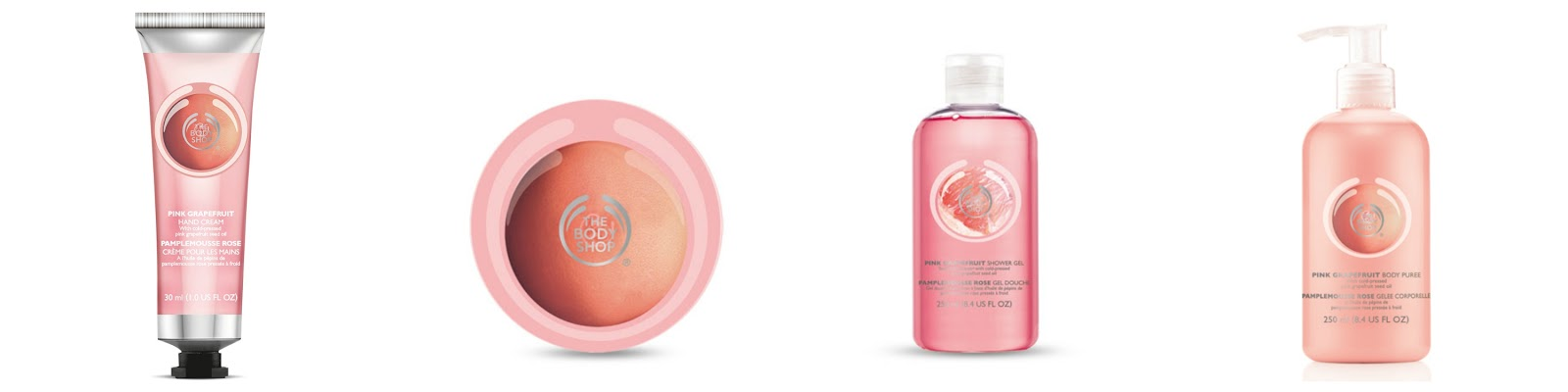 The Bodyshop Grapefruit range