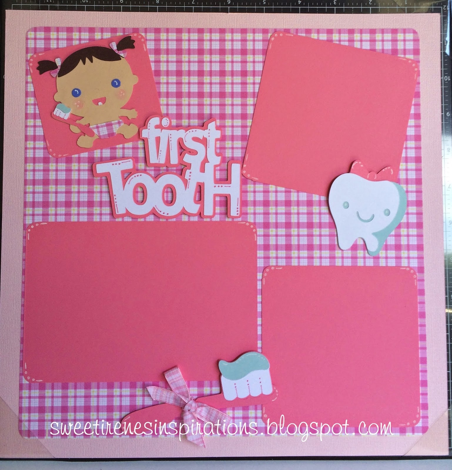 Sweet irene 39 s inspirations baby 39 s first tooth scrapbook pages for Baby first tooth decoration