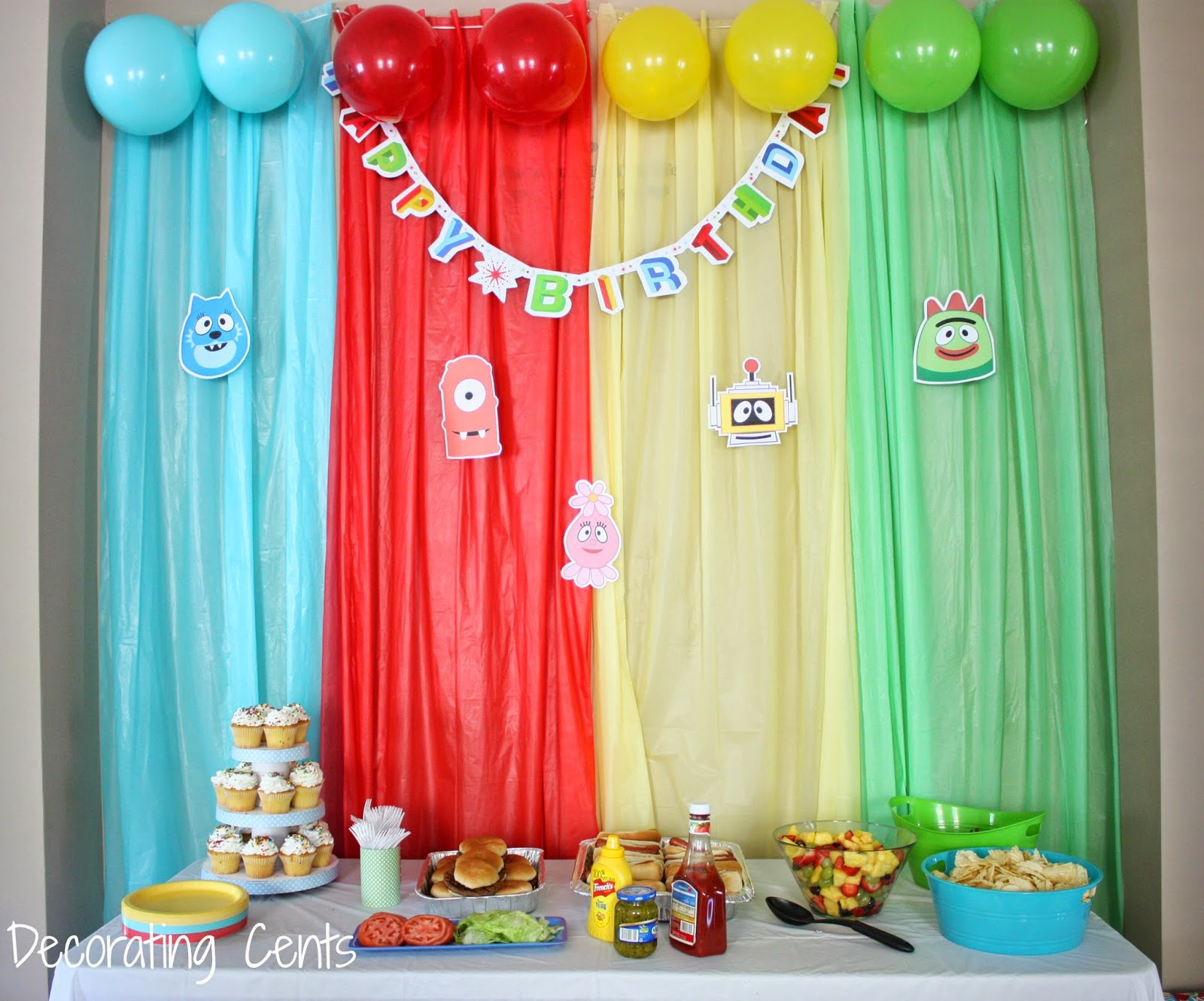 Decorating Cents: Yo Gabba Gabba Birthday Party