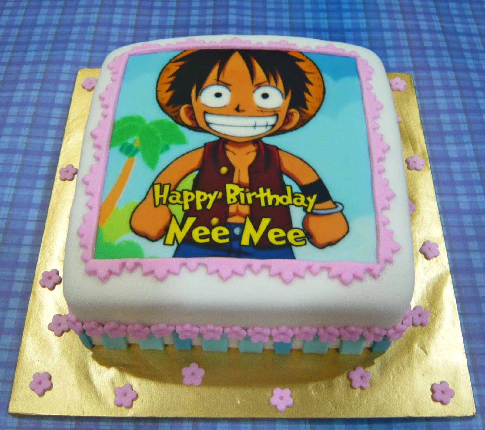 Jenn Cupcakes Muffins Luffy One Piece Cake