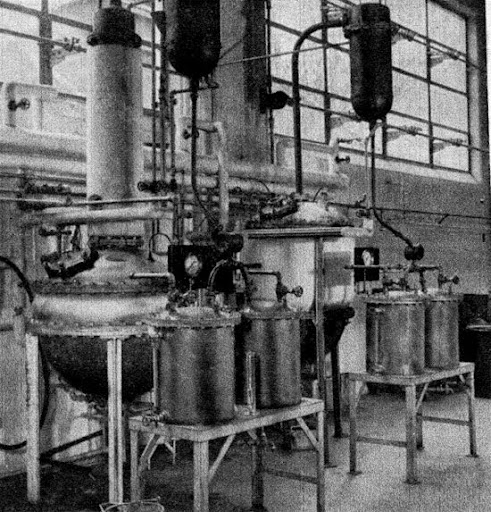 Vacuum stills at Fritzschc Brothers, Inc., Clifton Factory, Clifton, N. J.