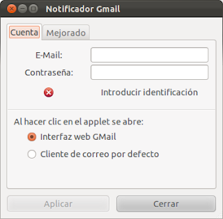 Aviso de correo Gmail en tu escritorio de Ubuntu