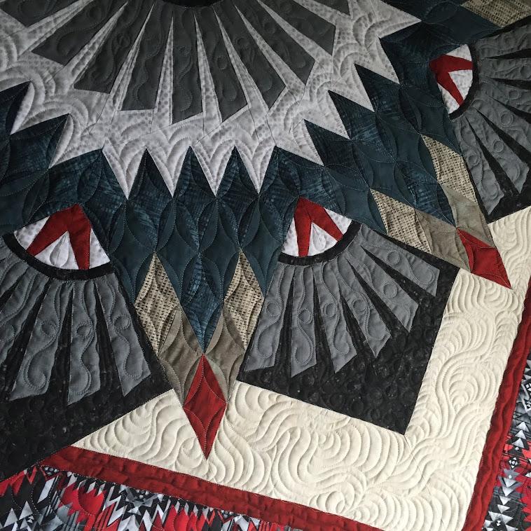 A beautiful Judy Niemeyer quilt made by my cousin Becky.