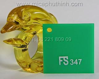 Mica màu xanh là nhạt FS 347