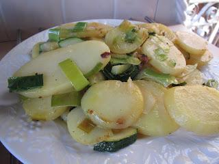 Gluten Free Potato, Zucchini, Leek Side Dish
