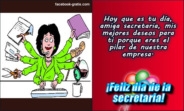Feliz día de la secretaria