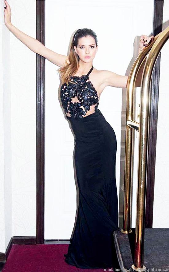 Vestidos de fiesta primavera verano 2015 Natalia Antolin. Moda 2015.