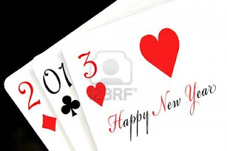 Happy new year 2013 heart cards