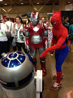 Iron Man, Spiderman and R2D2 at Fan Expo