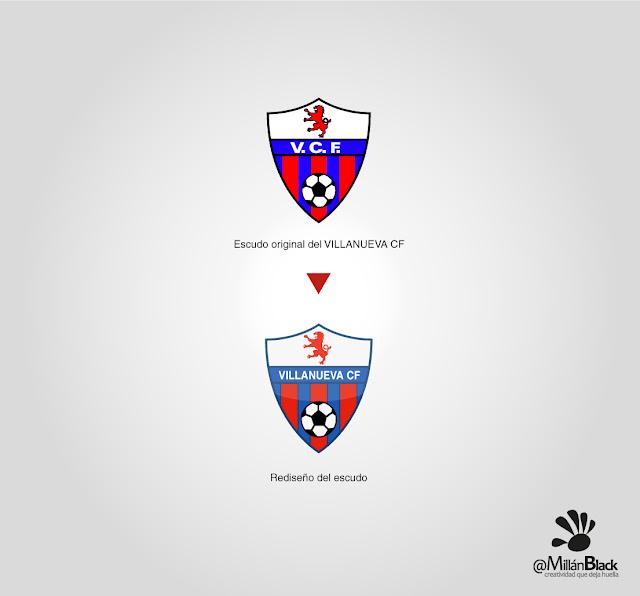 Escudo Villanueva CF Zaragoza rediseño