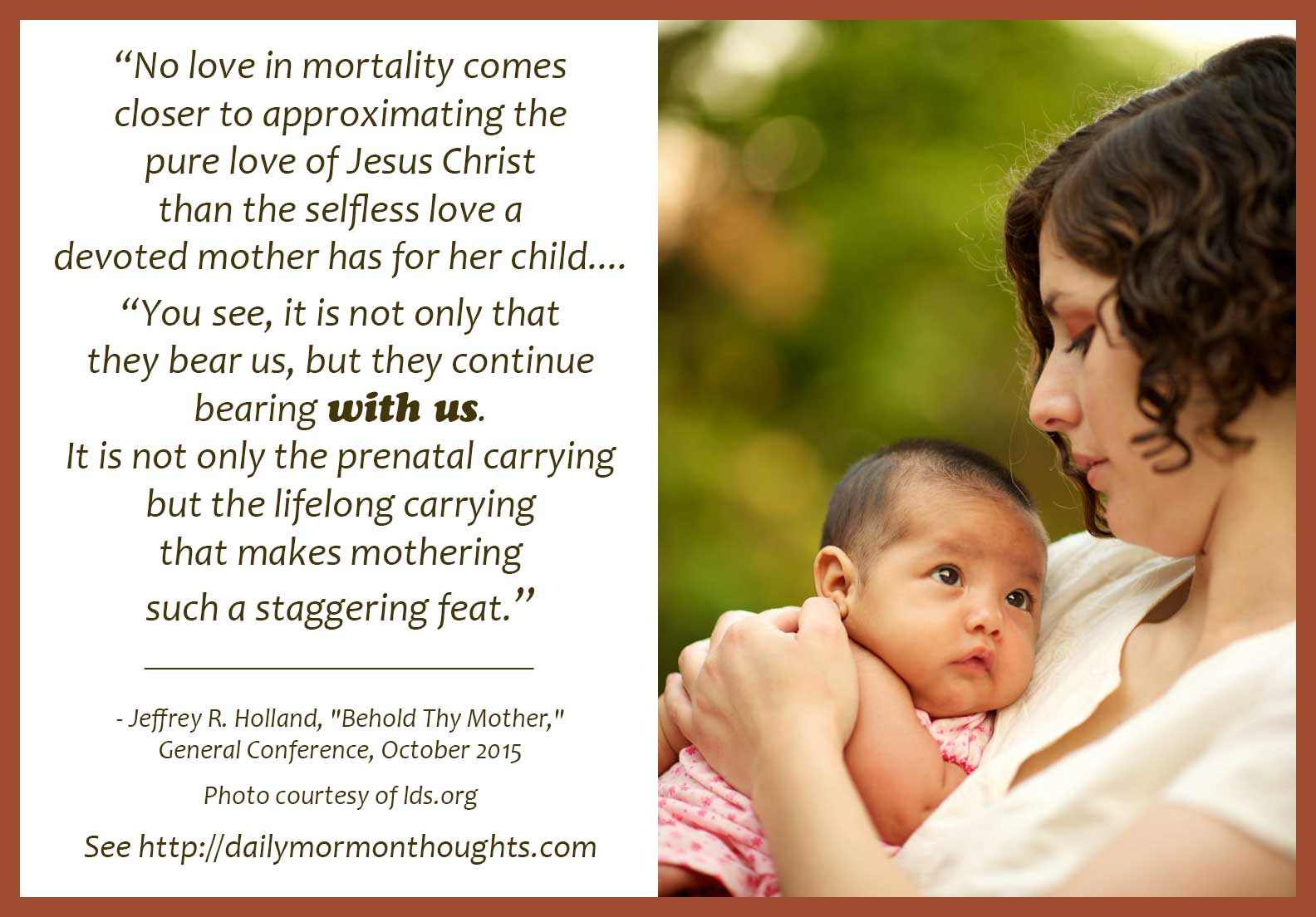 Daily Thought From Lds Leaders Jeffrey R Holland Offers A Tribute