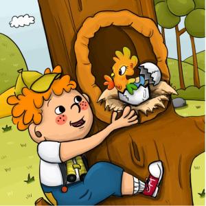 Terry el Trepador y el Huevo Perdido, cuentos para niños