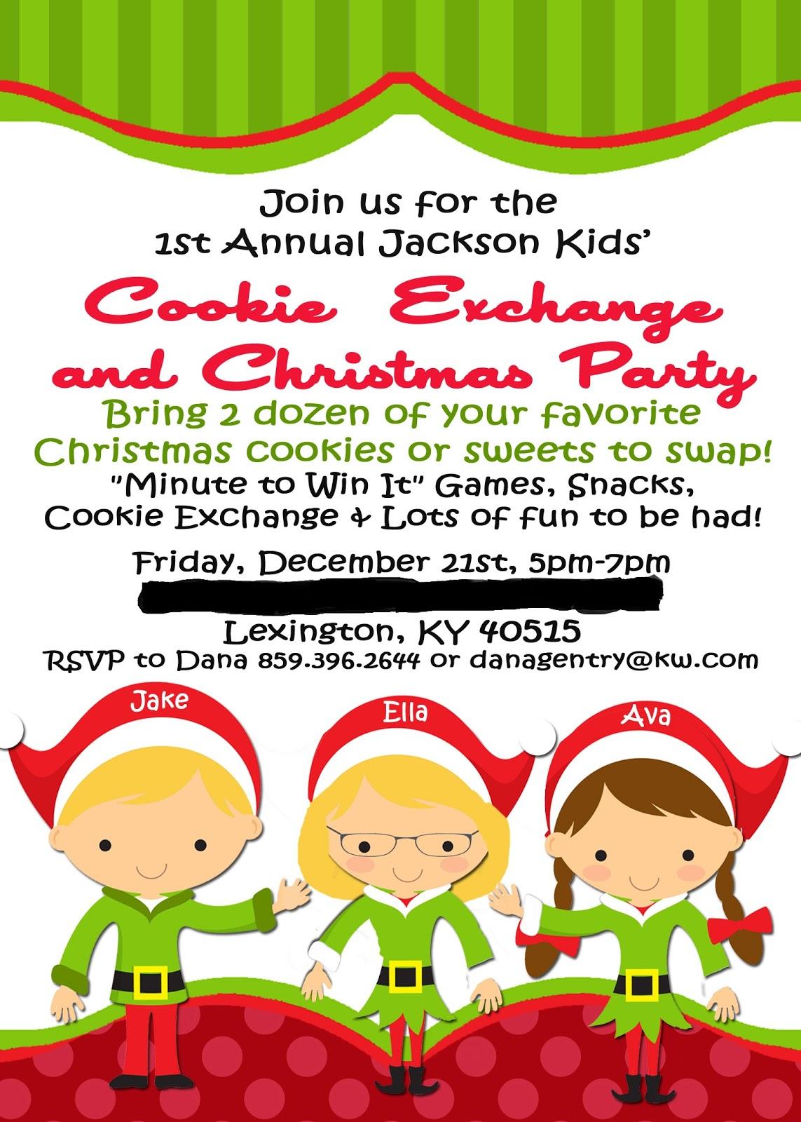 Printable Cookie Exchange Invitations with nice invitations ideas