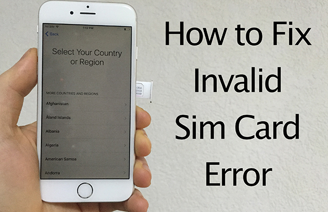 Invalid Sim Error Fix