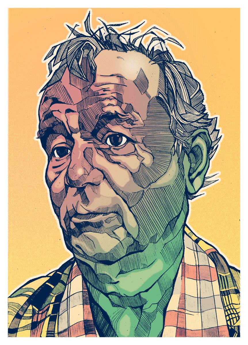 Bill Murray Illustration portrait