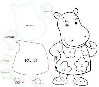 Imagens para pintura e patchwork de Hipopótamo