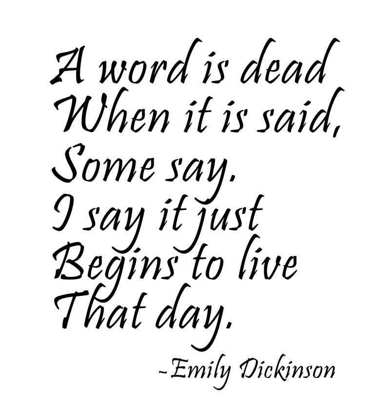 emily dickinsons living death essay T he subject of death, including her own death, occurs throughout emily dickinson's poems and letters although some find the preoccupation morbid, hers was not an unusual mindset for a time and place where religious attention focused on being prepared to die and where people died of illness and accident more readily than they do today.