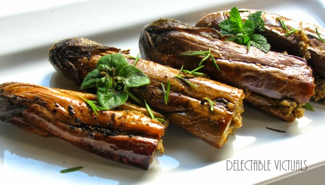 Five-Spiced Coconut-Stuffed Eggplant