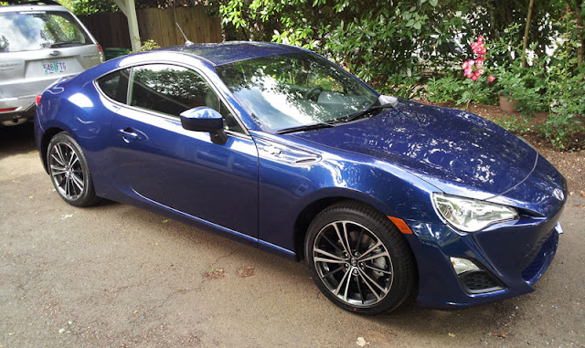 Scion,FR-S,review,in the driveway,sports car