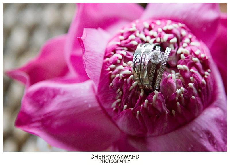 rings in lotus flower, Thailand wedding, Koh Samui
