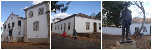 Museu Padre Toledo e estátua de Tiradentes em Tiradentes - MG