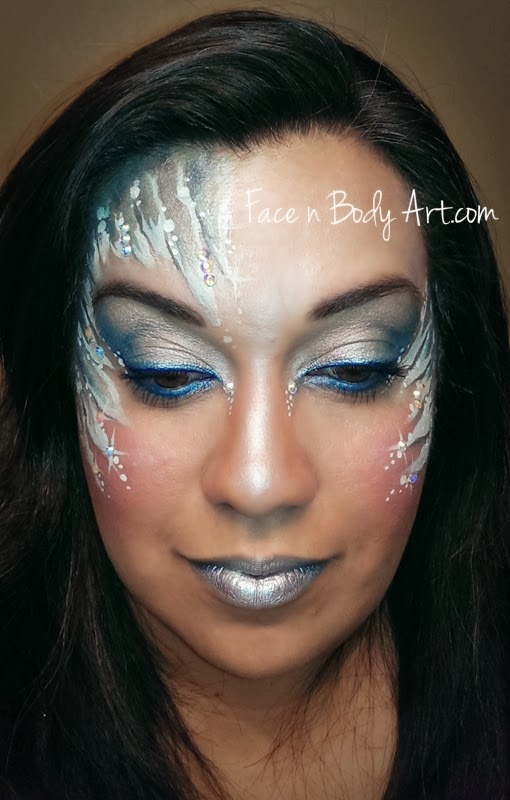 Shawna d make up fotd frozen face paint design for Frozen face paint