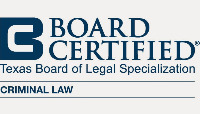 Board Certified Criminal Law, Texas Board of Legal Specialization