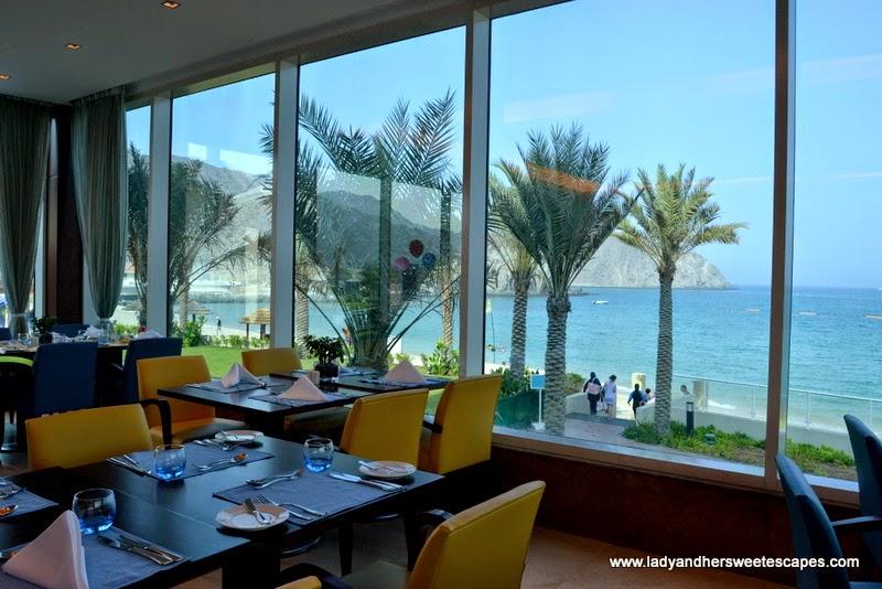 Al Murjan Restaurant in Oceanic Hotel Khorfakkan