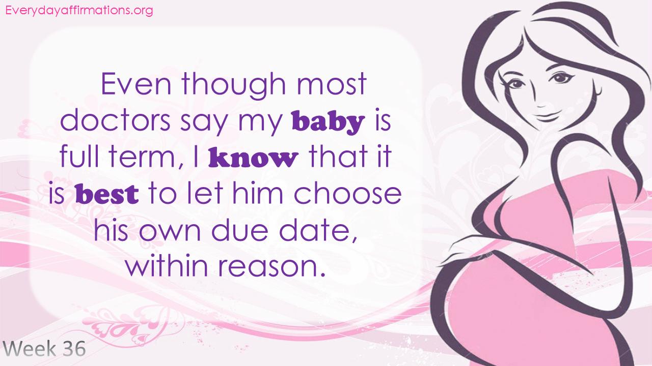 Positive Pregnancy Affirmations Third Trimester - Week 36
