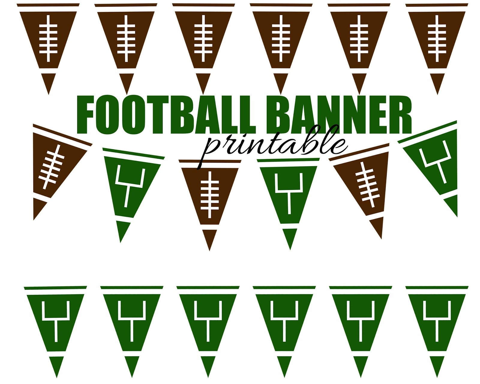 Football Pennant Banner {Free Printable} | Here Comes The Sun